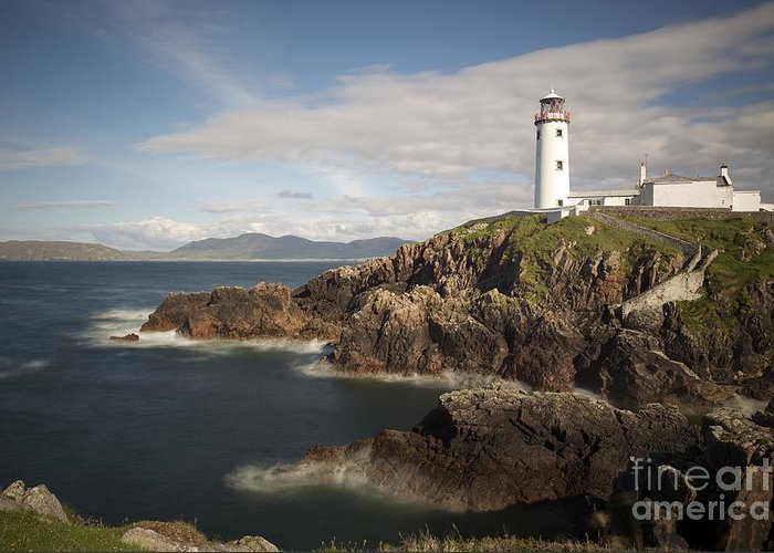 Irish Greeting Card featuring the photograph Donegal Lighthouse by Andrew Michael