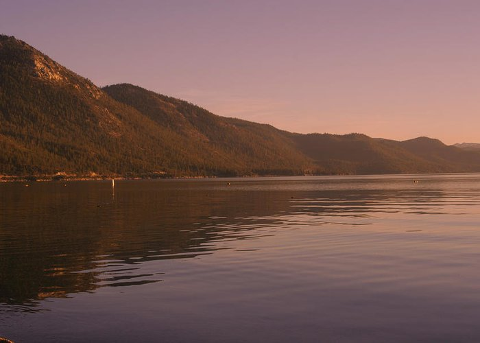 Donner Lake Greeting Card featuring the photograph Donner Lake by Adam Blankenship