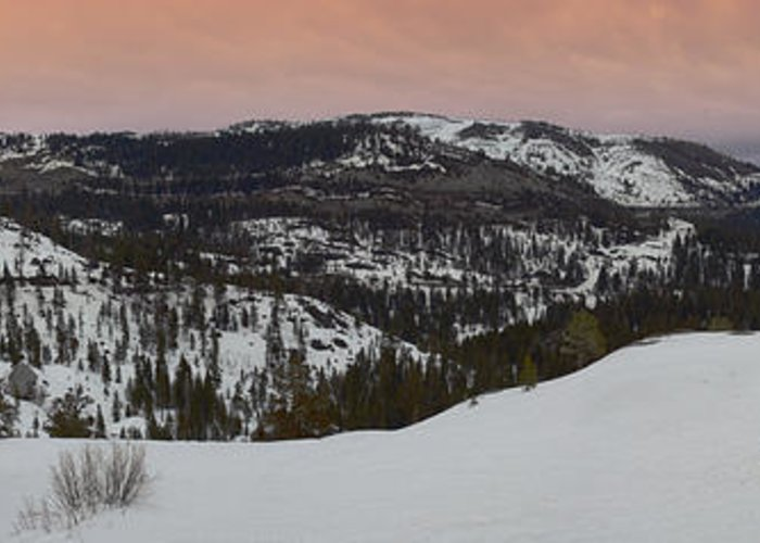Greeting Card featuring the photograph Donner Panoramic by Adam Blankenship