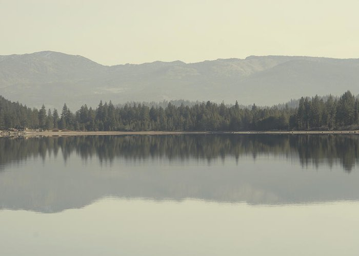 Donner Lake Greeting Card featuring the photograph Donner.wav by Adam Blankenship