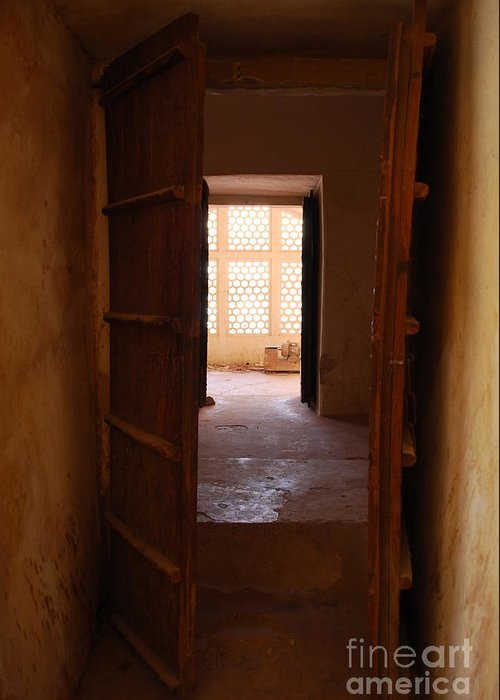 India Greeting Card featuring the photograph Doorway by Jen Bodendorfer