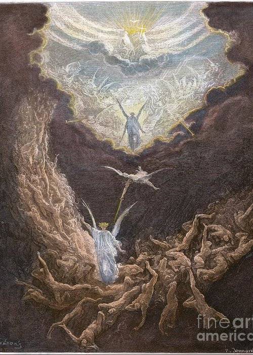 Angel Greeting Card featuring the photograph Dor�: Last Judgment by Granger