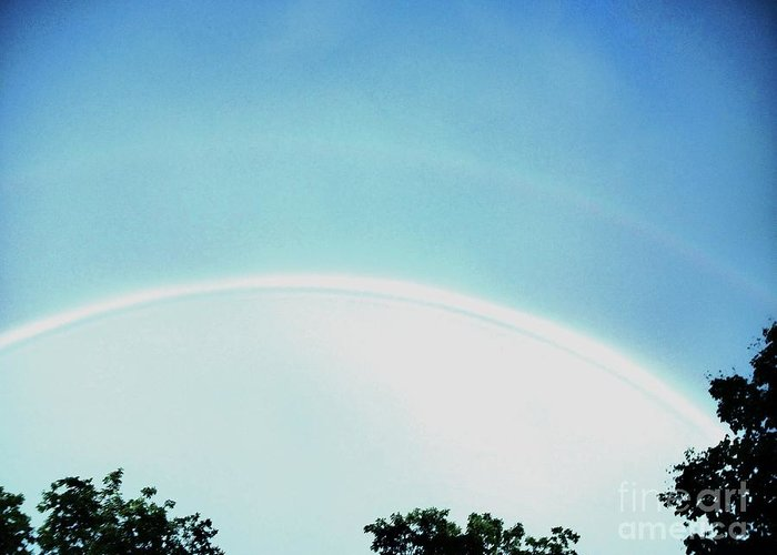 Photo Greeting Card featuring the photograph Double Rainbow After The Storm by Marsha Heiken