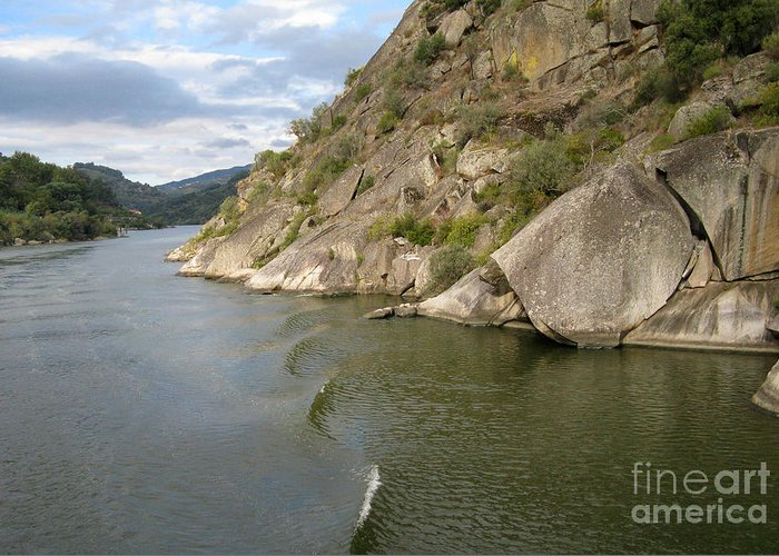 Nature Greeting Card featuring the photograph Douro Rock Formation by Arlene Carmel