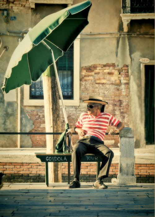 Venice Greeting Card featuring the photograph Down Time by Marion Galt