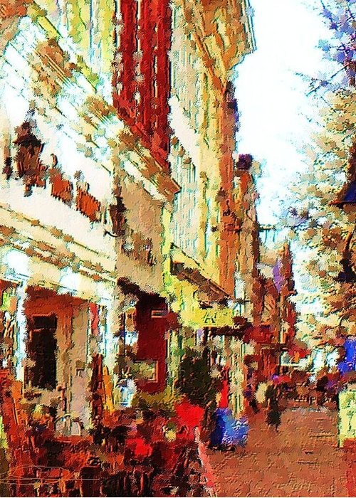 City Art Greeting Card featuring the photograph Down Town by Diana Chason