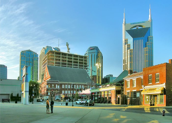 City Greeting Card featuring the photograph Downtown Nashville IIi by Steven Ainsworth