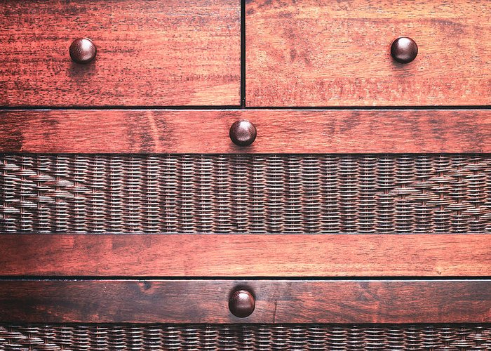Background Greeting Card featuring the photograph Drawers by Tom Gowanlock