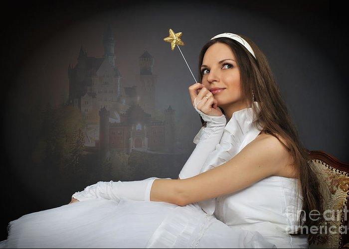Portrait Greeting Card featuring the photograph Dreams by Viktor Korostynski