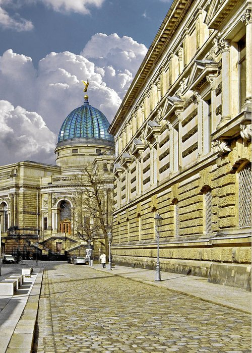 Academy Of Fine Arts Greeting Card featuring the photograph Dresden Academy Of Fine Arts by Christine Till