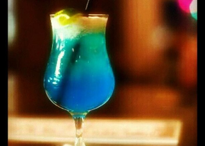 Drink Of The Day Blue Lagoon Vodka Greeting Card For Sale By Mary Carter