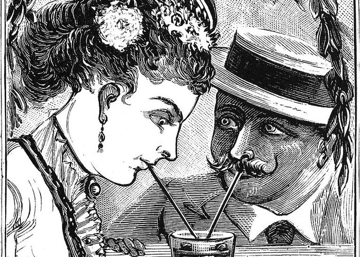 1875 Greeting Card featuring the photograph Drinking, 1875 by Granger
