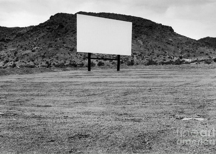 Drive In Movie Greeting Card featuring the photograph Drive In Movie Theater by Homer Sykes