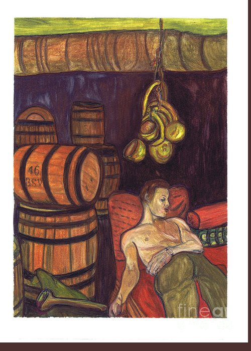 Wine Seller Greeting Card featuring the painting Drunken Arousal by Melinda English