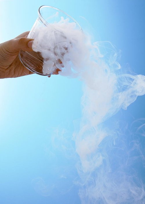 Dry Ice Greeting Card featuring the photograph Dry Ice by Gustoimages