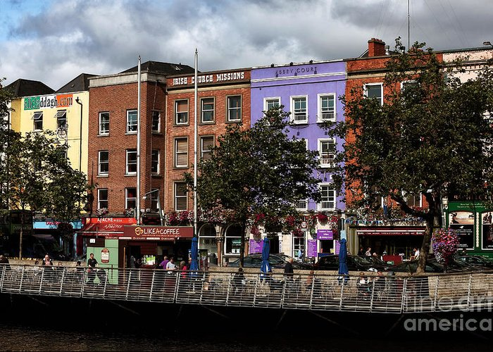 Dublin Building Colors Greeting Card featuring the photograph Dublin Building Colors by John Rizzuto
