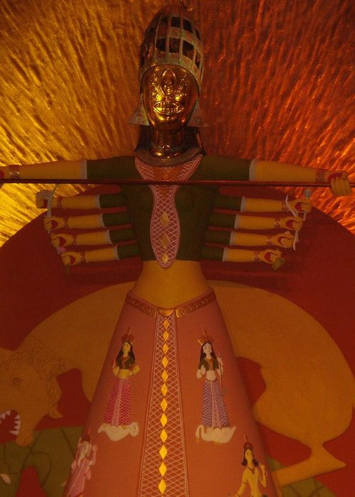 Installation Art Greeting Card featuring the photograph Durga by Prasenjit Dhar