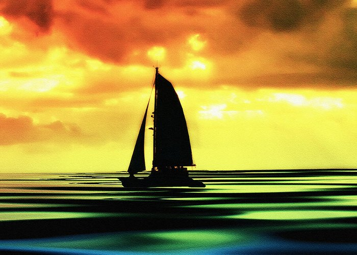 Sail Greeting Card featuring the photograph Dusk by Bill Cannon