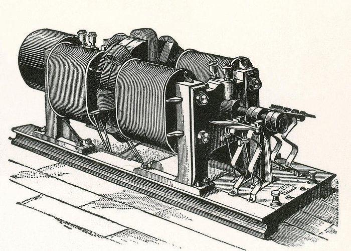 Dynamo Electric Machine Greeting Card featuring the photograph Dynamo Electric Machine by Science Source