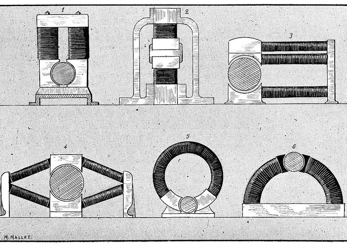 Device Greeting Card featuring the photograph Dynamo Types, 19th Century by