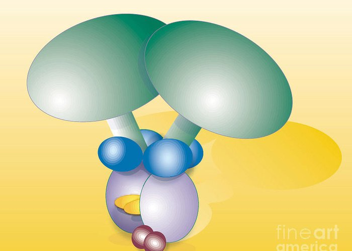 Dynein Motor Greeting Card featuring the photograph Dynein Complex by Oak Ridge National Laboratory