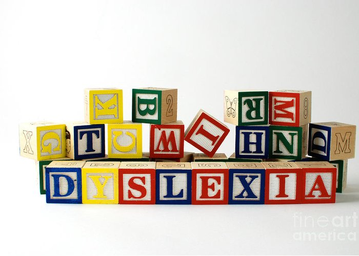 Dyslexia Greeting Card featuring the photograph Dyslexia by Photo Researchers, Inc.