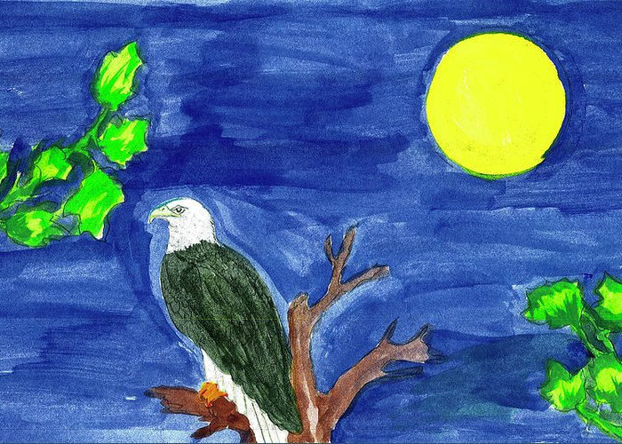 Greeting Card featuring the painting Eagle by Harry Richards