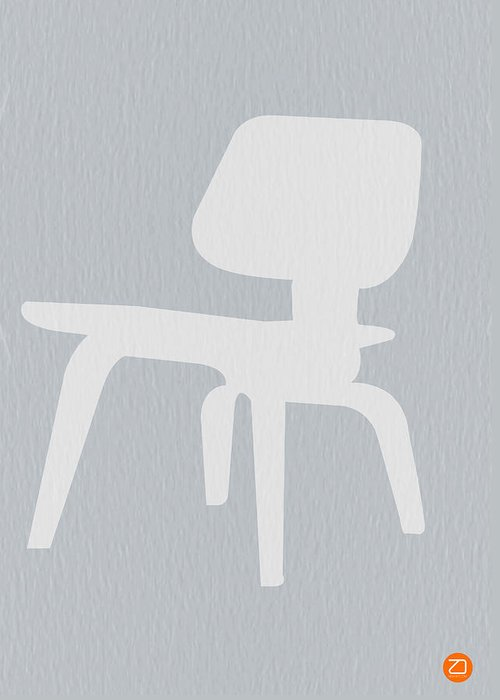 Eames Greeting Card featuring the photograph Eames Plywood Chair by Naxart Studio