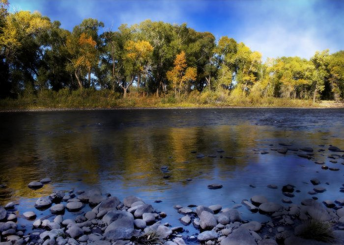 Rio Grande Greeting Card featuring the photograph Early Fall At The Headwaters Of The Rio Grande by Ellen Heaverlo