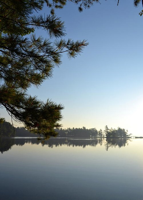 Lost Lake Greeting Card featuring the photograph Early Morning On Lost Lake by Michelle Calkins
