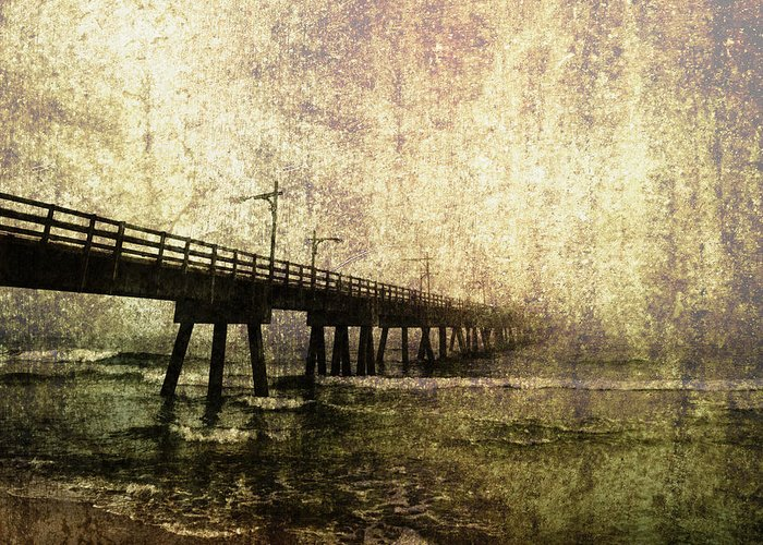 Absence Greeting Card featuring the photograph Early Morning Pier by Skip Nall