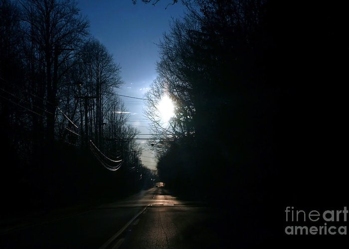 Rural Greeting Card featuring the photograph Early Morning Rural Road by Susan Stevenson