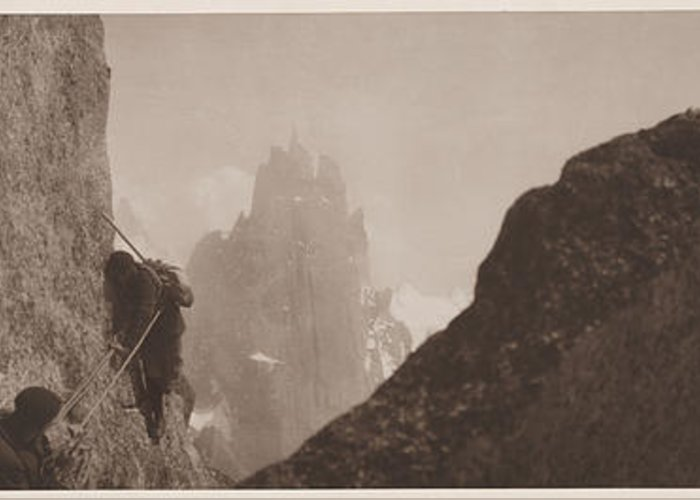 Photography Greeting Card featuring the photograph Early Mountaineering In The Alps by Georges Tairraz
