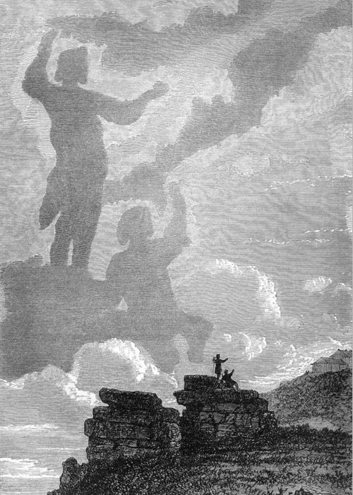 Brocken Spectre Greeting Card featuring the photograph Early Sighting Of Brocken Spectres, 1797 by