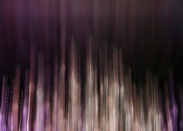 Abstract Greeting Card featuring the photograph Earth Streak by Rylee Stearnes