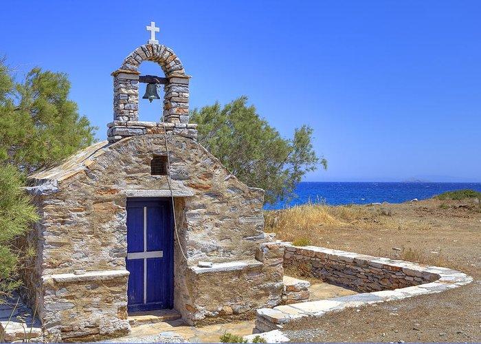 Naxos Greeting Card featuring the photograph east coast Naxos by Joana Kruse