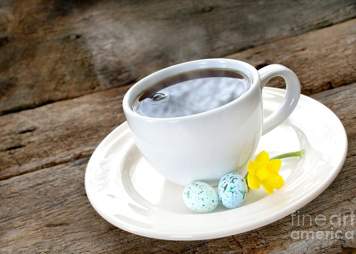 Aroma Greeting Card featuring the photograph Easter Coffee by Darren Fisher