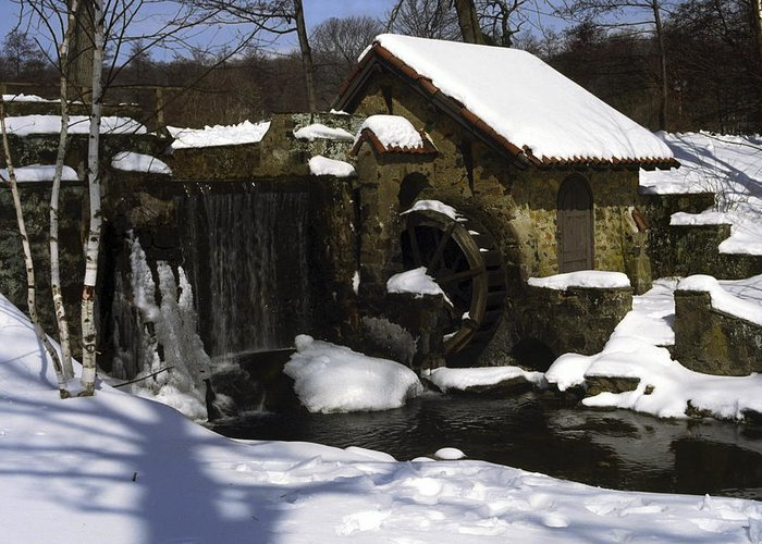 Eastern University Waterwheel Greeting Card featuring the photograph Eastern University Waterwheel Historic Place by Sally Weigand