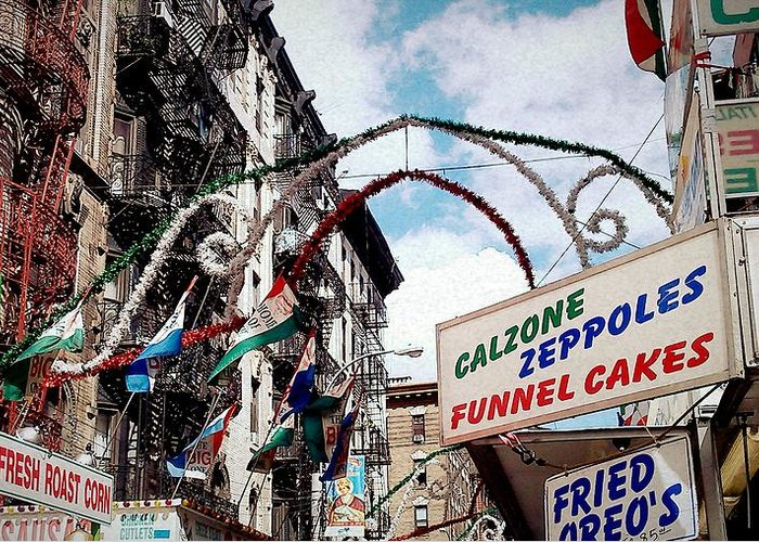 Feast Of San Gennaro Greeting Card featuring the photograph Eat Up by Catie Canetti