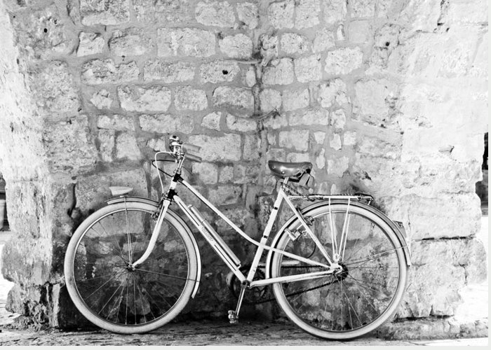 Vintage Bike Greeting Card featuring the photograph Eco Transport by Georgia Fowler