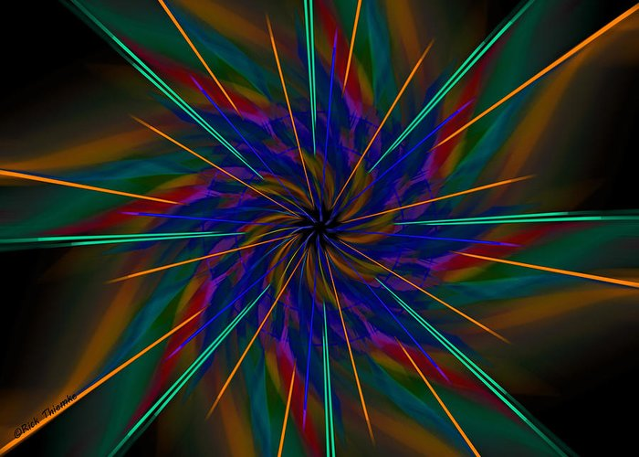 Digital Greeting Card featuring the digital art Ecstasy by Rick Thiemke