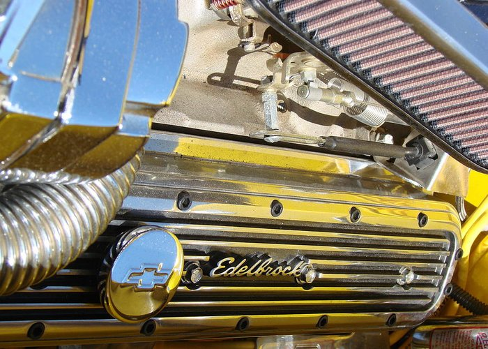 Edelbrock Greeting Card featuring the photograph Edelbrock by Tammy Cantrell