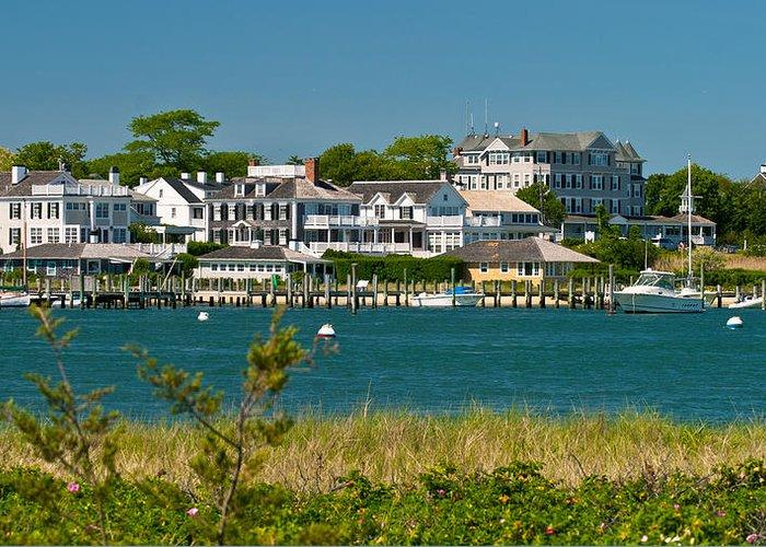 Edgartown Greeting Card featuring the photograph Edgartown Harbor Marthas Vineyard Massachusetts by Michelle Wiarda