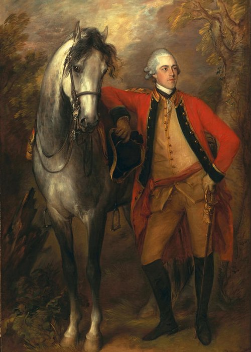 Male Greeting Card featuring the painting Edward Viscout Ligonier by Thomas Gainsborough