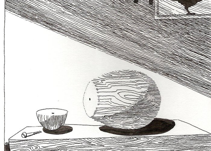 Egg Greeting Card featuring the drawing Egg Drawing 019613 by Phil Burns