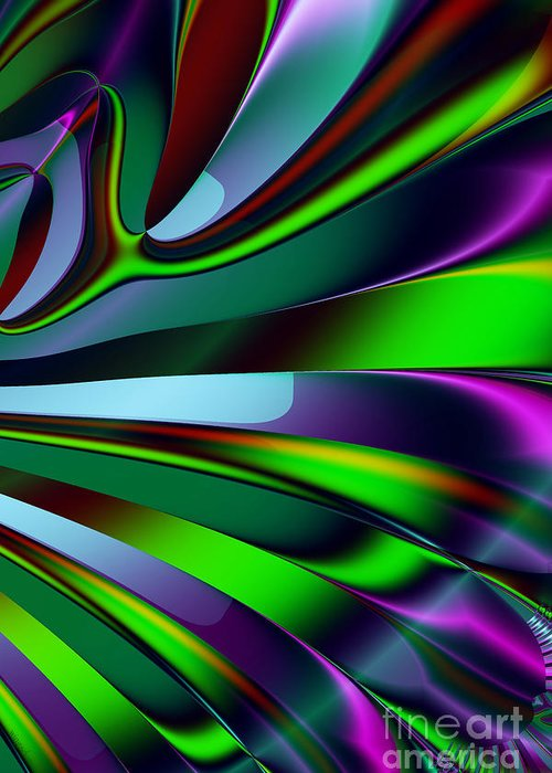 Fractal Greeting Card featuring the digital art Eichler Is Lost . S9 by Wingsdomain Art and Photography