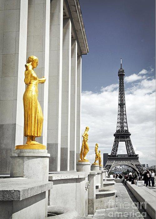 Eiffel Greeting Card featuring the photograph Eiffel Tower From Trocadero by Elena Elisseeva
