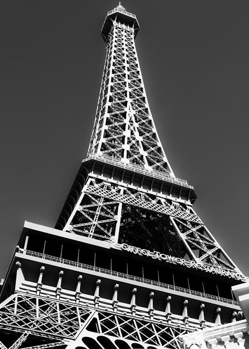 Eiffel Tower Greeting Card featuring the photograph Eiffel Tower Vegas Style by Leslie Leda
