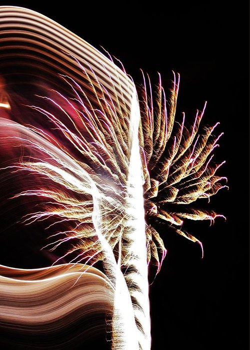 Fireworks Greeting Card featuring the photograph Electric by Paulette Thomas