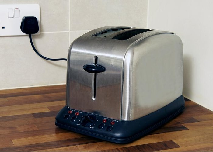 Equipment Greeting Card featuring the photograph Electric Toaster by Johnny Greig
